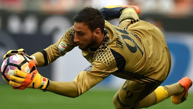 <p>Donnarumma takes the place between the sticks because of his outstanding performances at such a young age for Milan. </p> <br><p>Dubbed the 'new Gianluigi Buffon', the 18-year-old shot stopper has kept three clean sheets in his last six matches. If he performs the way he did against Palermo, he will be confident of adding another against Inter. </p>