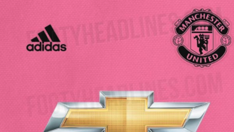 the latest 04241 af298 LEAKED: Man Utd Design Pink Away Kit for 2018/19 Season to ...