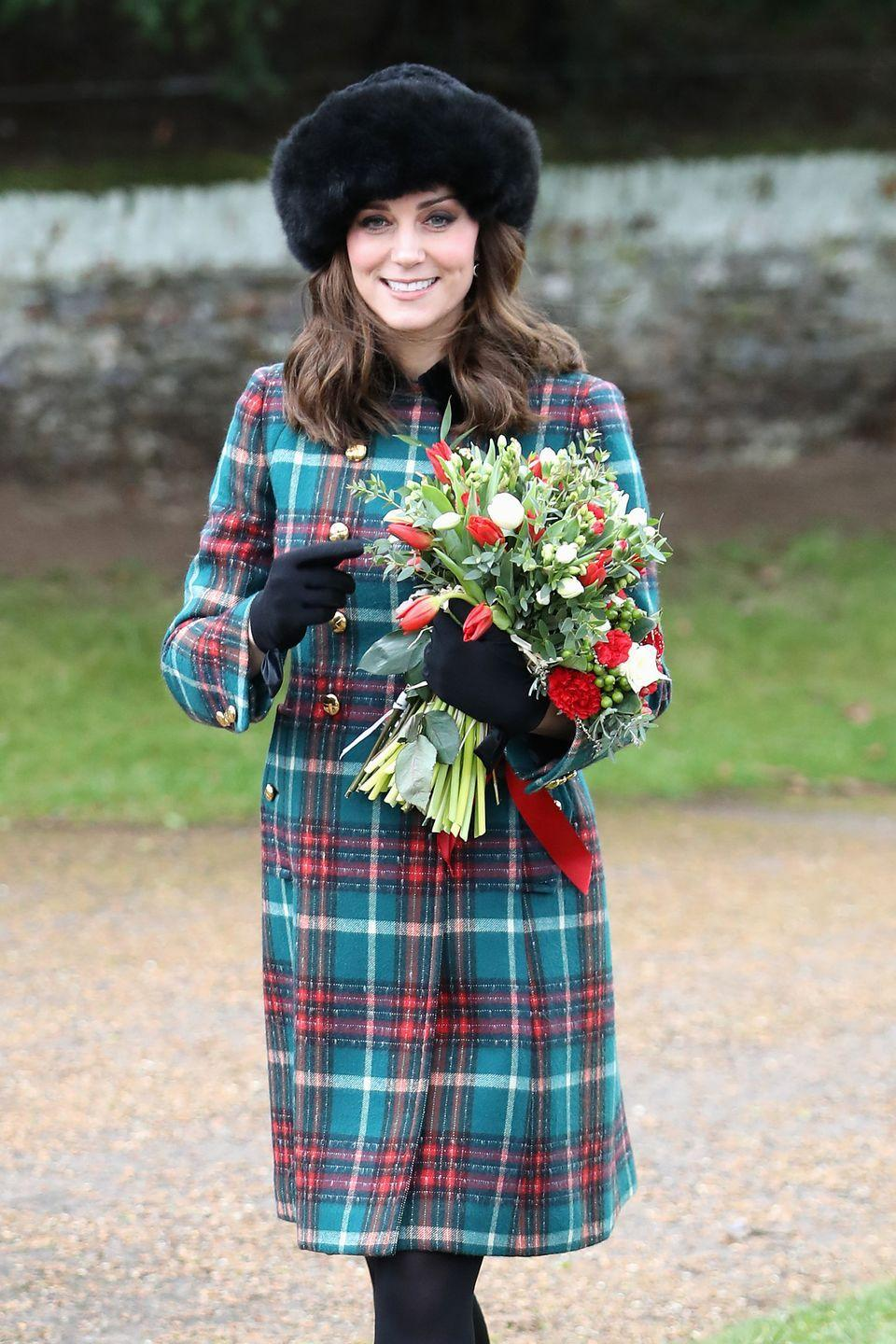 """<p>Even if you're only seeing people over Zoom, make the day festive by donning a chic look. Take a page from the Duchess of Cambridge's book and try out a chic tartan print for the holiday. But, whatever you choose, make sure there's plenty of room in the waist. </p><p><strong>More: </strong><a href=""""https://www.townandcountrymag.com/style/fashion-trends/g22613399/thanksgiving-day-outfits/"""" rel=""""nofollow noopener"""" target=""""_blank"""" data-ylk=""""slk:10 Stylish Outfits to Wear on Thanksgiving Day"""" class=""""link rapid-noclick-resp"""">10 Stylish Outfits to Wear on Thanksgiving Day</a></p>"""