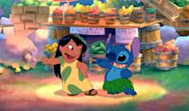 """<p>This sunshiny story about a young girl who adopts a """"dog"""" only to later find out he's an extraterrestrial escapee from an alien planet is one of the most action-packed Disney movies I've seen. Its central message of family (whether chosen or biological) sticking together no matter what is so beautiful. </p> <p><a href=""""https://www.amazon.com/Lilo-Stitch-Daveigh-Chase/dp/B003QSLW0K/"""" rel=""""nofollow noopener"""" target=""""_blank"""" data-ylk=""""slk:Available for rent on Amazon"""" class=""""link rapid-noclick-resp""""><em>Available for rent on Amazon</em></a></p>"""