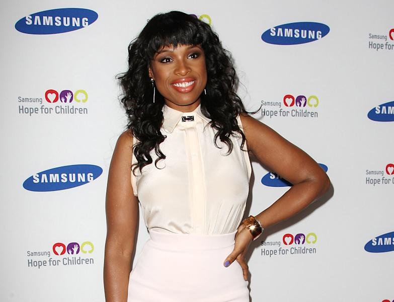 "FILE - This June 4, 2012 file photo released by Starpix shows singer and Academy Award-winning actress Jennifer Hudson at the Samsung Hope for Children 11th Annual Gala at the Museum of Natural History in New York. Hudson will appear on the second season of the NBC series ""Smash"" in a multi-episode arc as a Broadway star named Veronica Moore. On ""Smash,"" Hudson will join fellow ""American Idol"" alum Katharine McPhee who is one of the show's main characters. (AP Photo/Starpix, Kristina Bumphrey, file)"