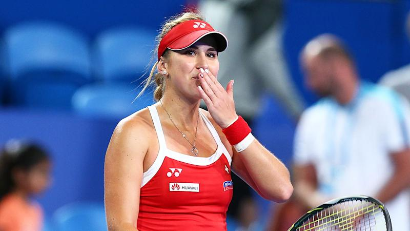 Every double fault Belinda Bencic serves will see her donate money to the bushfire appeal.