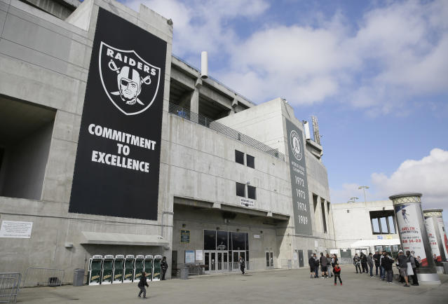 """An unnamed suspect dropped """"anti-media"""" flyers over the crowd at Oakland Coliseum and Levi's Stadium on Sunday. (AP)"""