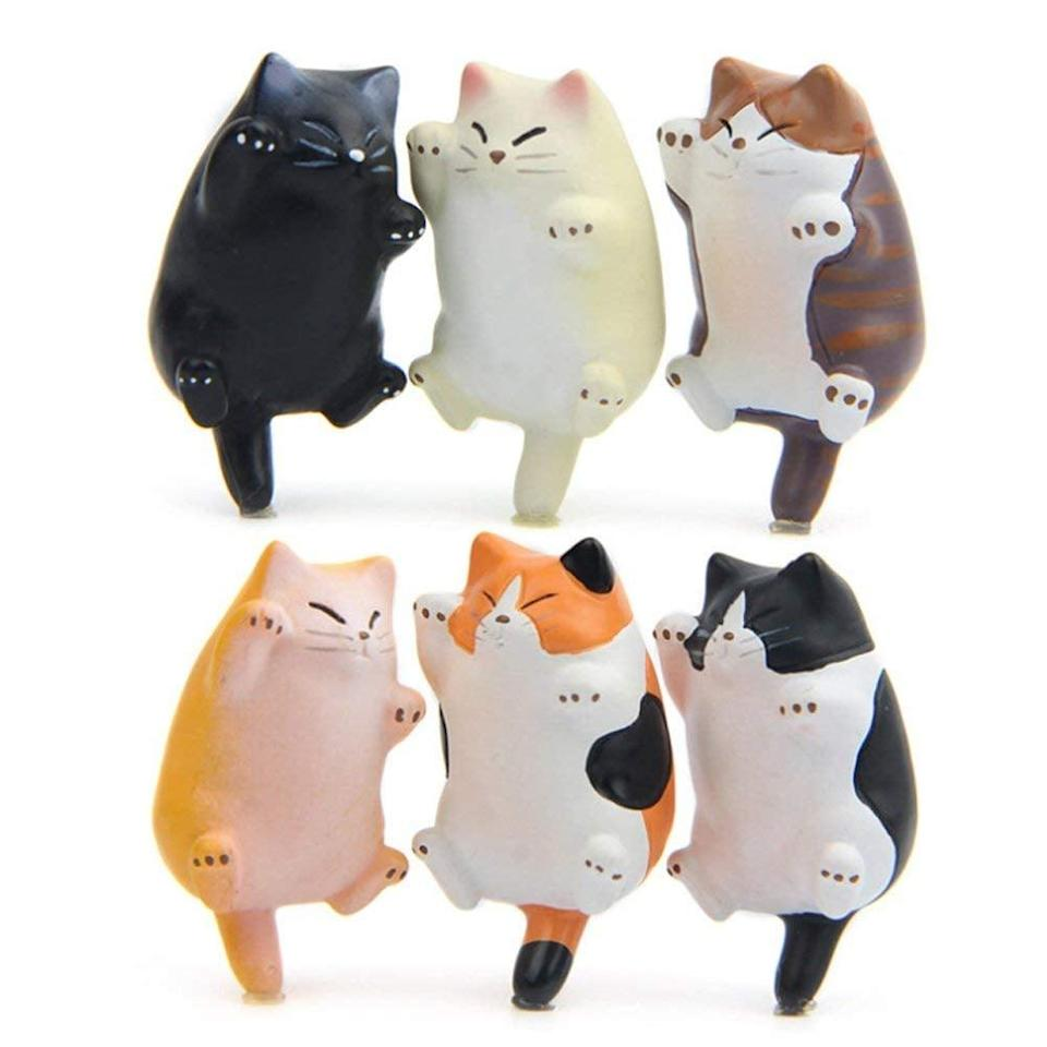 <p>A cat-lover will appreciate these <span>Chicchic 6 Pack Cat Refrigerator Magnets </span> ($16, originally $19).</p>