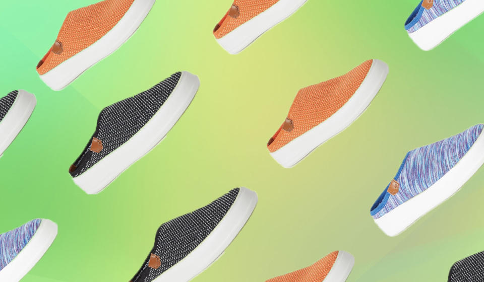 A foam insert gives these on-trend slip-ons magical foot-soothing properties. They're heaven for your soles. (Photo: QVC)