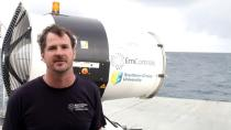 Dr Daniel Harrison is seen during the second field trial at Broadhurst Reef on the Great Barrier Reef