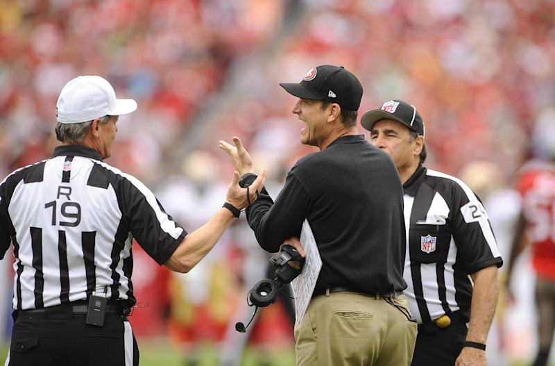 Jim Harbaugh would like to stay put with 49ers