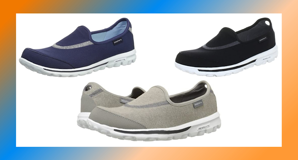 The Skechers Go Slip-on Women's Walking Shoes have won buyers' approval from Amazon.