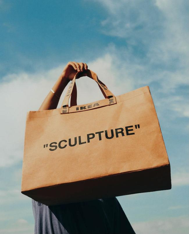 The Ikea x Virgil Abloh 'SCULPTURE' bag. Photo: Ikea