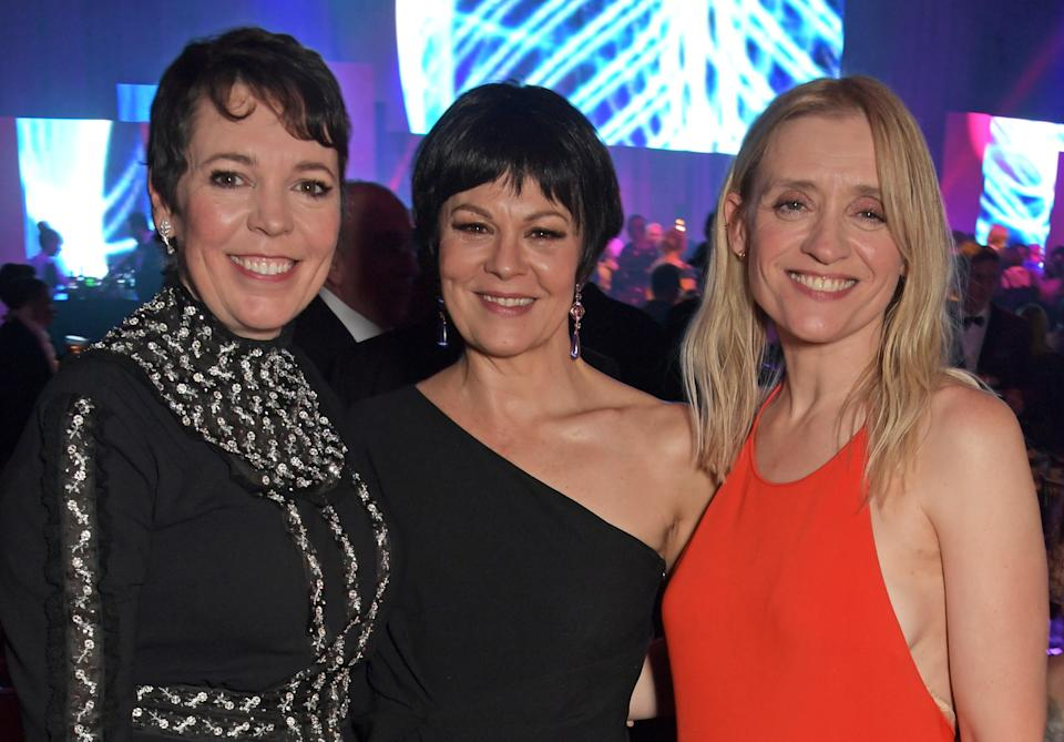 Olivia Colman, Helen McCrory and Anne-Marie Duff at the afterparty for the 65th Evening Standard awardsDave Benett/Getty