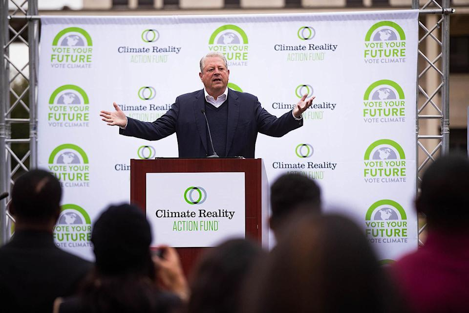 "<p>Gore was one of the more notable public figures to sound the alarm about climate change, and brought it to an even bigger stage with his award-winning 2006 documentary, <em>An Inconvenient Truth. </em><a href=""https://www.wired.com/2016/05/wired-al-gore-climate-change/"" rel=""nofollow noopener"" target=""_blank"" data-ylk=""slk:Ten years later"" class=""link rapid-noclick-resp"">Ten years later</a> in a chat with <em>Wired, </em>he spoke of how seeing the impact of global warming firsthand can make an individual finally want to act. </p> <p>""I went to Tacloban in the Philippines and talked with survivors there who endured the ravages of Super Typhoon Haiyan,"" he shared. ""When you see how their lives were utterly transformed and feel the painful losses they suffered, it certainly will stick with you.""</p>"