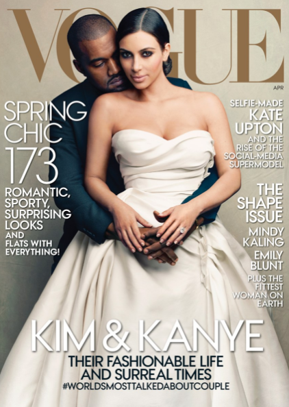 <p>Kim and Kanye's <em>Vogue</em> cover may have been one of the magazine's most controversial of all time (the elite fashion industry was not thrilled to see a reality star and her rapper beau on the cover), but the duo clearly have appeal. The magazine was one of the best-selling issues the magazine sold, selling around 500,000 issues. </p>