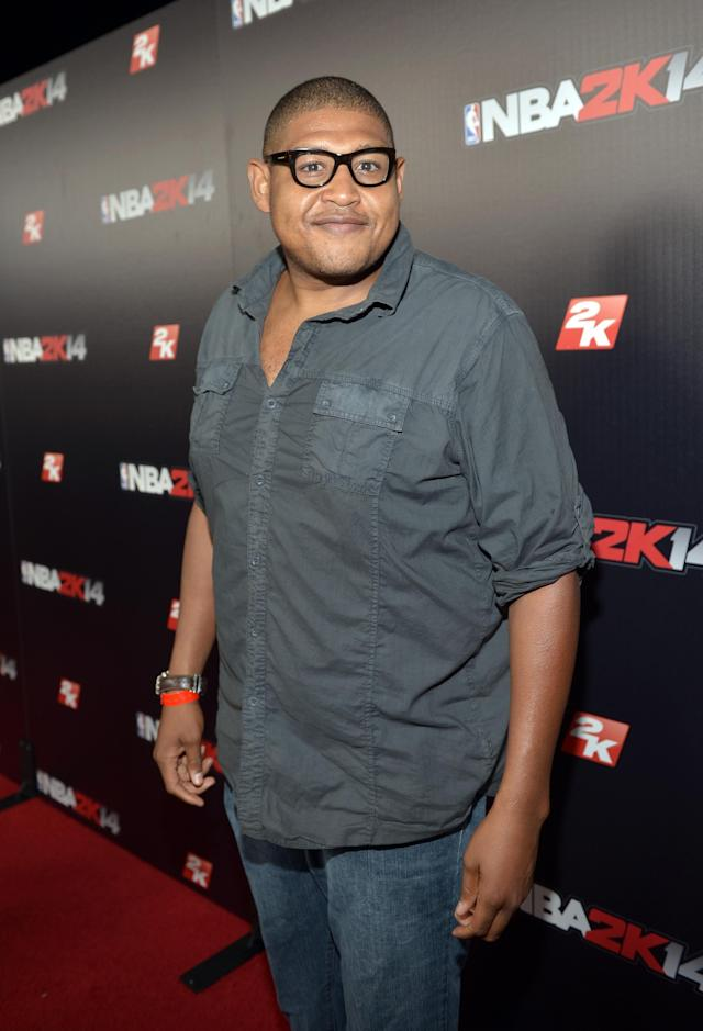 WEST HOLLYWOOD, CA - SEPTEMBER 24: Actor Omar Benson Miller attends the NBA 2K14 premiere party at Greystone Manor on September 24, 2013 in West Hollywood, California. (Photo by Charley Gallay/Getty Images for 2K)