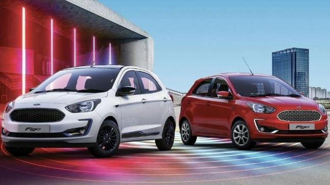 The 2019 Ford Figo facelift gets seven colour options -- White Gold, Moondust Silver, Smoke Grey, Absolute Black, Deep Impact Blue, Ruby Red and Oxford White. There is a five-year or one lakh km warranty on the new Ford Figo. It will rival the likes of Maruti Suzuki Swift and Hyundai Grand i10.