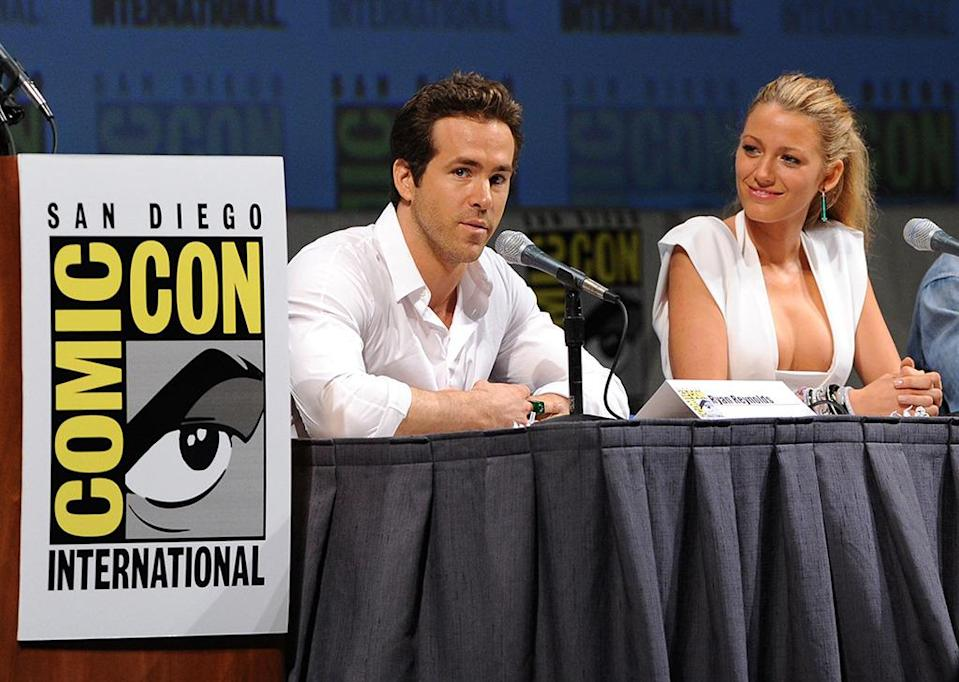<p>Lively met future husband Ryan Reynolds while filming <i>Green Lantern</i> in 2010. Here, the two appear at Comic-Con to discuss the superhero flick on July 24, 2010.<i> (Photo: Kevin Winter/Getty Images)</i></p>
