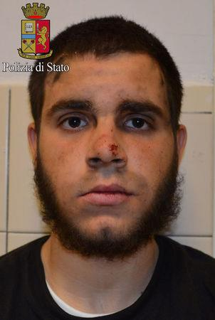 A handout photo released by Italian Police of Ismail Hosni
