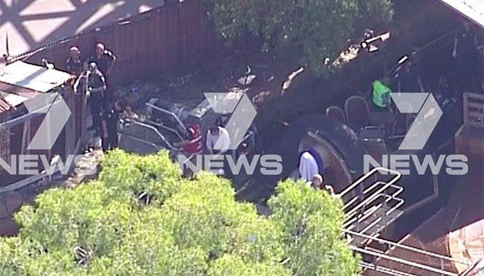 Emergengy services at the scene of the incident. Image: 7 News