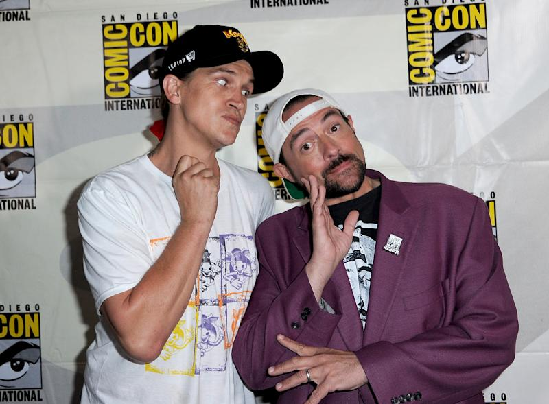 Jason Mewes and Kevin Smith during 2019 Comic-Con International. (Photo by Albert L. Ortega/Getty Images)