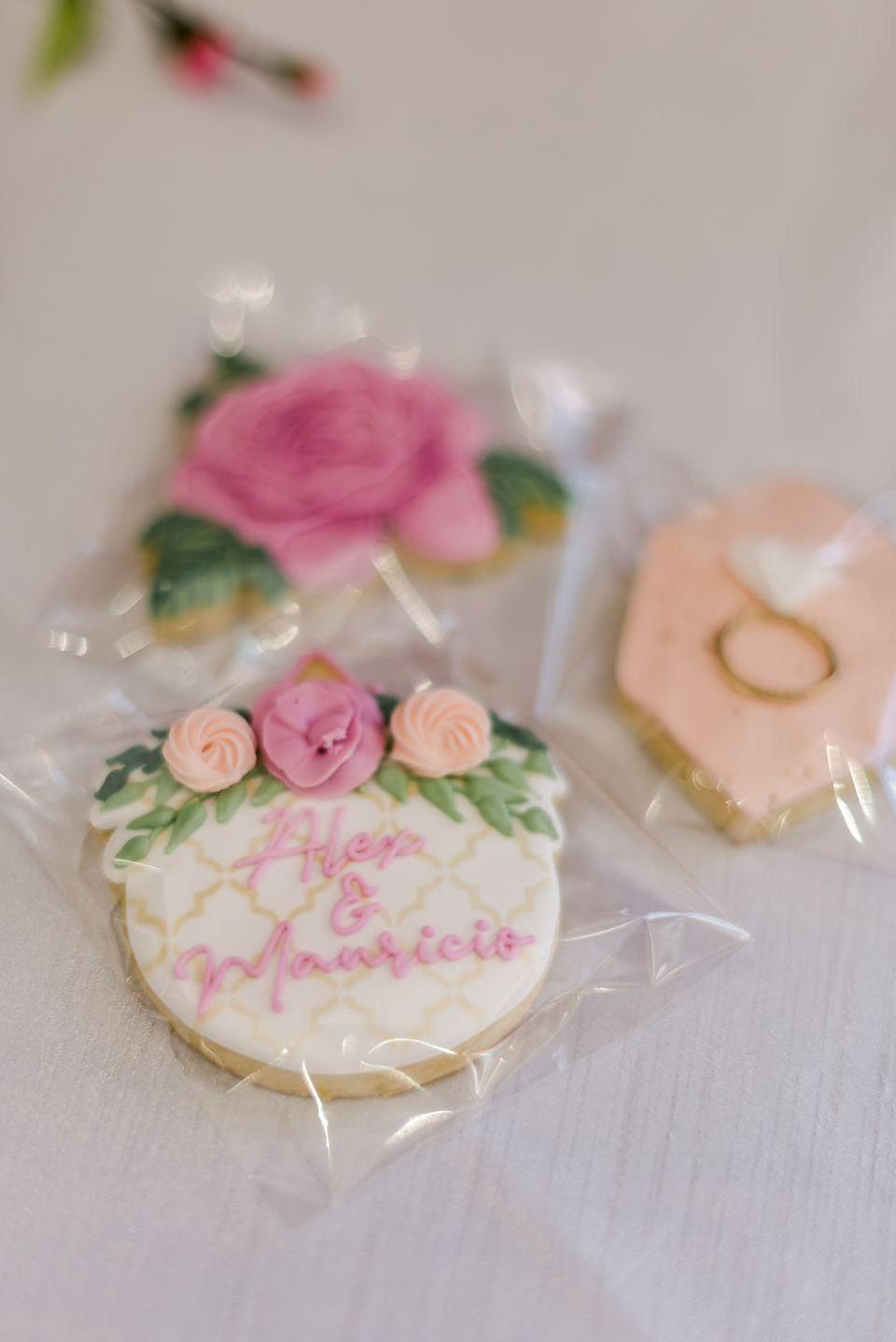 """<p>Haley had ordered beautiful cookies from <a href=""""https://www.surelysweetsbakery.com/"""" rel=""""nofollow noopener"""" target=""""_blank"""" data-ylk=""""slk:Surely Sweets Bakery"""" class=""""link rapid-noclick-resp"""">Surely Sweets Bakery</a> in Tulsa. They were almost too pretty to eat! (Notice I said """"almost..."""")</p>"""