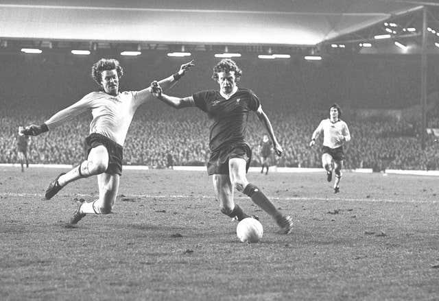 David Fairclough, right, saw his chances limited at Liverpool by Dalglish's partnership with Rush