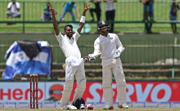 <p>August 13 (CRICKETNMORE) - India's all-rounder Hardik Pandya scored a brilliant maiden Test century, smashing a Indian Test record along the way. Impressed by his hard-hitting, former Indian batsman Virender Sehwag who is known for his funny tweetscongratulated him on social networking website Twitter.</p>