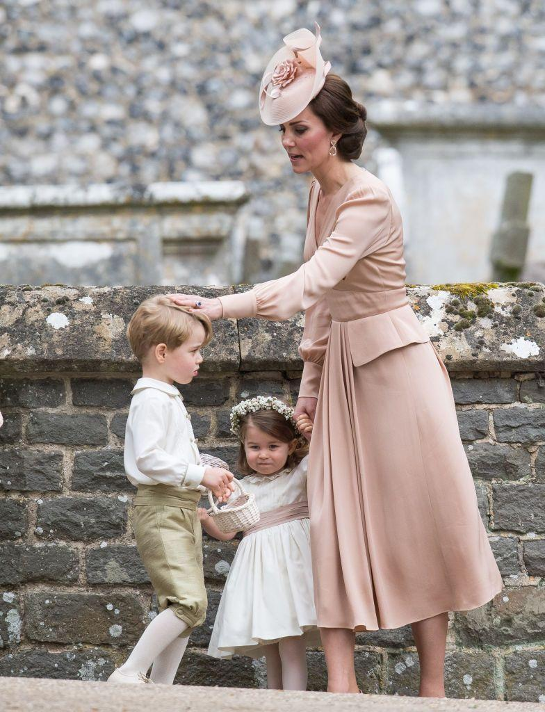 """<p>George and Charlotte served as a page boy and flower girl at their aunt, and Kate's sister, <a href=""""https://www.elle.com/uk/fashion/celebrity-style/news/a35872/pippa-middleton-wears-giles-deacon-dress-bride-church/"""" rel=""""nofollow noopener"""" target=""""_blank"""" data-ylk=""""slk:Pippa's wedding to James Matthews in May 2017."""" class=""""link rapid-noclick-resp"""">Pippa's wedding to James Matthews in May 2017.</a></p>"""