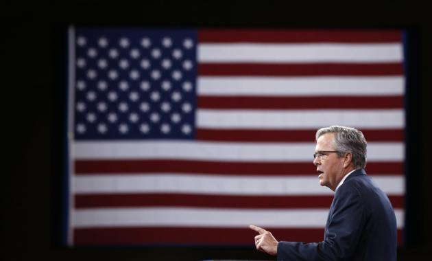 Jeb Bush smiles while being interviewed at the Conservative Political Action Conference (CPAC) at National Harbor in Maryland February 27, 2015. (Kevin Lamarque/REUTERS)