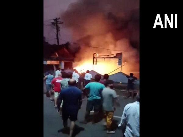 Fire breaks out at factory in Vasai (Photo/ANI)