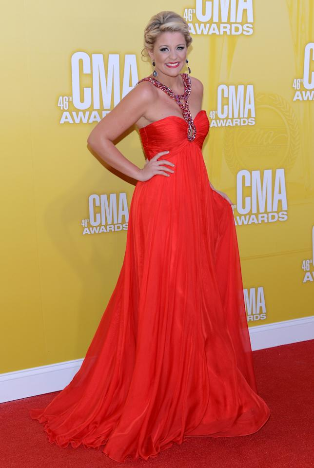 NASHVILLE, TN - NOVEMBER 01:  Country music artist Lauren Alaina attends the 46th annual CMA Awards at the Bridgestone Arena on November 1, 2012 in Nashville, Tennessee.  (Photo by Jason Kempin/Getty Images)