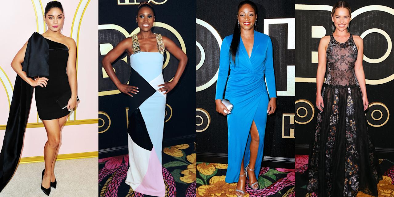 """<p>The Emmys red carpet has wrapped, the <a rel=""""nofollow"""" href=""""https://www.marieclaire.com/culture/a23119269/emmys-award-winners-2018/"""">Emmys winners were announced</a> - and then it was time for the Emmys after parties. Some celebs like Tiffany Haddish decided to change into a completely new outfit (she swapped her <a rel=""""nofollow"""" href=""""https://www.marieclaire.com/fashion/a23290331/tiffany-haddish-rainbow-dress-emmys-2018/"""">rainbow-colored gown by Prabal Gurung</a> for a more formfitting blue dress) while <a rel=""""nofollow"""" href=""""https://www.marieclaire.com/fashion/g23118372/emmys-2018-best-dressed-red-carpet-dresses/"""">Emilia Clarke</a> decided her dress deserved to shine all night long. The after party was where the dancing, mingling, and selfies happened. But before you even think about all that, check out what your favorite stars wore.</p>"""