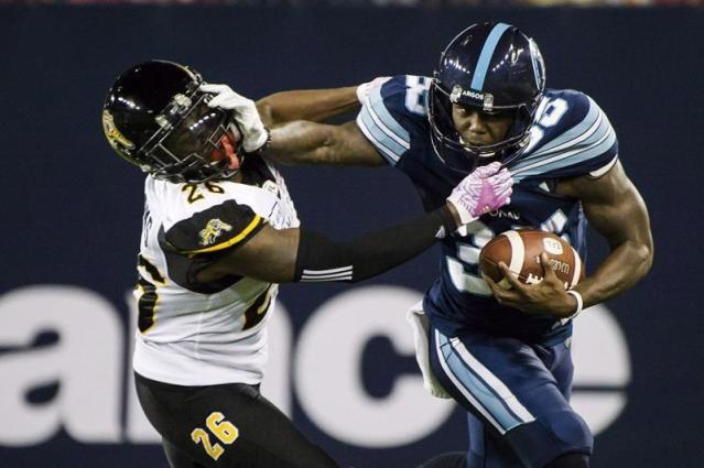 """TORONTO — The Toronto Argonauts re-signed American running back Brandon Burks to a contract extension through the 2020 season Monday. The five-foot-nine, 208-pound Burks was scheduled to become a free agent Feb. 12. Burks ran 45 times for 283 yards over eight games last season with Toronto. He joined the Argos after spending the 2016 season with the Green Bay Packers and New York Jets, playing in one game for the latter as a rookie. Burks played collegiately at Troy University, moving from receiver to running back in his sophomore season. He played in 45 games, rushing for 2,253 yards and 12 touchdowns while adding 88 catches for 673 yards and three TDs. NORMAN RETURNS TO STAMPS The Calgary Stampeders have signed American linebacker Dwayne Norman. The Duke product originally signed with the team in 2017 and played one game in 2018 before being released. Overall, Norman has played four regular-season games with Calgary. Norman played safety for his first three seasons at Duke before making the switch to linebacker and receiving a third-team all-conference selection. LIONS EXTEND MOORE The B.C. Lions have signed Canadian running back Wayne Moore to a contract extension through 2020. Originally drafted by the Montreal Alouettes in 2016, Moore joined the Lions as a free agent in July and appeared in 13 regular-season games in 2018. The Toronto native saw action primarily on special teams, where he registered 11 tackles. """"Wayne was a valuable pick-up for us last season and we're looking forward to seeing him continue his development,"""" GM Ed Hervey said in a statement. BOMBERS INK DEFENSIVE LINEMAN The Winnipeg Blue Bombers have signed American defensive lineman Noble Nwachukwu. The West Virginia product spent time on the San Francisco 49ers practice roster in 2017. ALOUETTES RE-SIGN BEDARD The Montreal Alouettes re-signed Canadian long-snapper Martin Bedard to a one-year deal. The six-foot-three, 239-pound Bedard is entering his 12th CFL season with Montreal, He helped t"""
