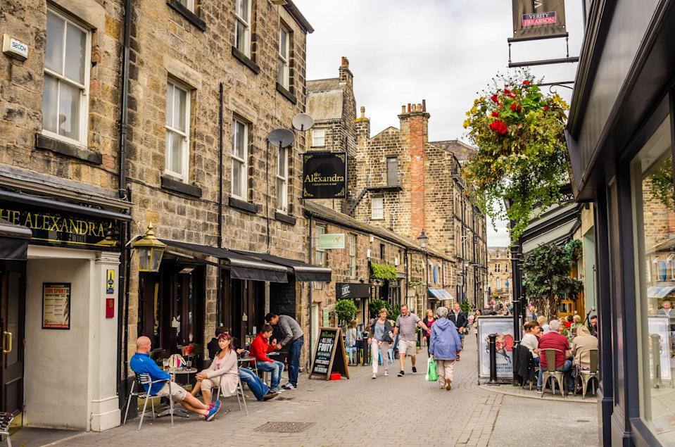 "<p>You can't go far wrong with a weekend stay in 'God's Own Country' and Harrogate is a gem for those looking for a bit of peace and quiet. Wander the quiant streets for a spot of vintage shopping before heading to <a href=""https://www.bettys.co.uk/"" rel=""nofollow noopener"" target=""_blank"" data-ylk=""slk:Betty's Tearooms"" class=""link rapid-noclick-resp"">Betty's Tearooms</a> for a well-deserved cuppa. Book a table at <a href=""https://theivyharrogate.com/"" rel=""nofollow noopener"" target=""_blank"" data-ylk=""slk:The Ivy"" class=""link rapid-noclick-resp"">The Ivy</a> for dinner and stay the night at <a href=""https://www.ruddingpark.co.uk/"" rel=""nofollow noopener"" target=""_blank"" data-ylk=""slk:Rudding Park"" class=""link rapid-noclick-resp"">Rudding Park</a> – we promise that the spa is well worth the trip. <em>[Photo: Getty]</em> </p>"
