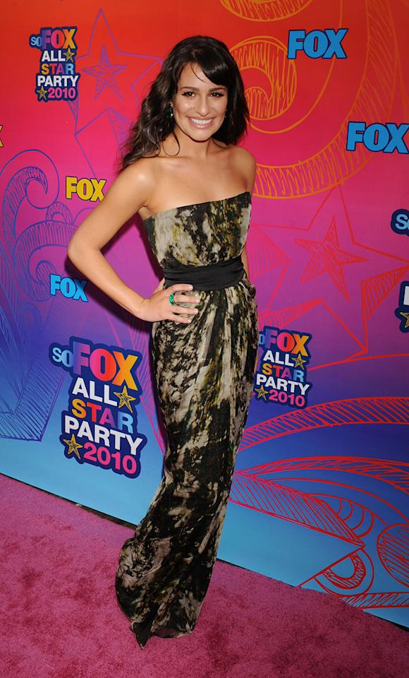 Lea Michele arrives at the Fox 2010 Summer TCA All-Star Party at Pacific Park Santa Monica Pier on August 2, 2010 in Santa Monica, California.