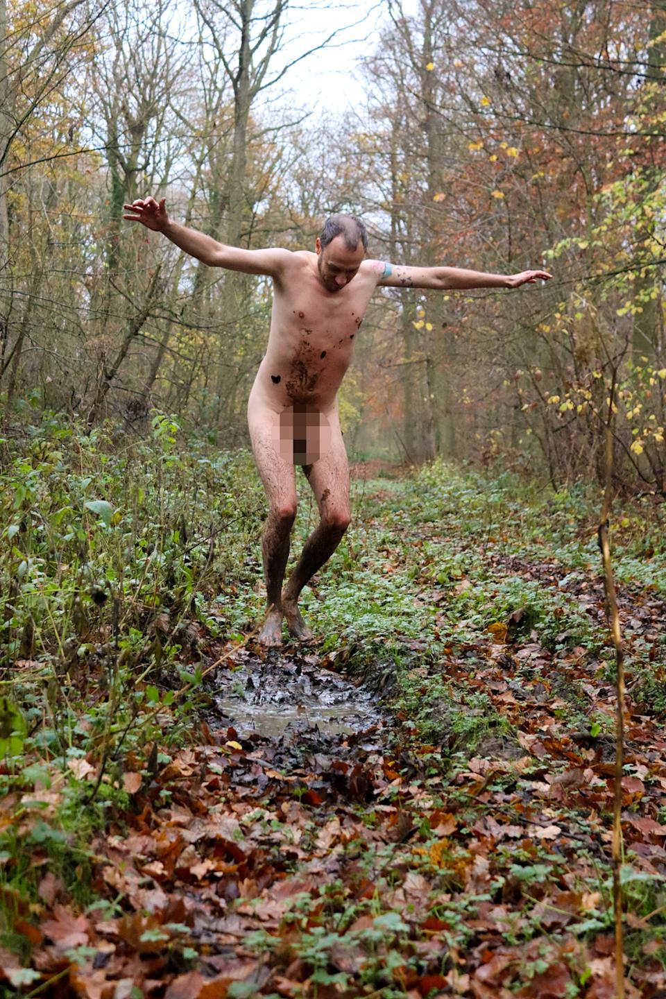 Chris Hood found comfort in jumping naked in muddy puddles. (PA Real Life)