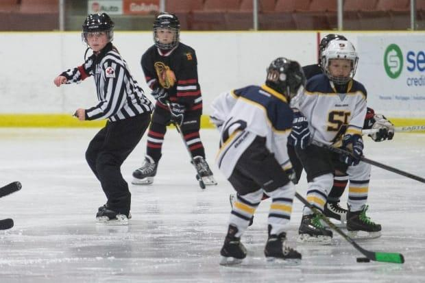 According to Hockey Eastern Ontario, one in three referees quit after their first year-and-a-half. Approximately half quit after their second year. Most reported abuse as the reason for leaving. (Justin Parson/St. Albert Gazette - image credit)