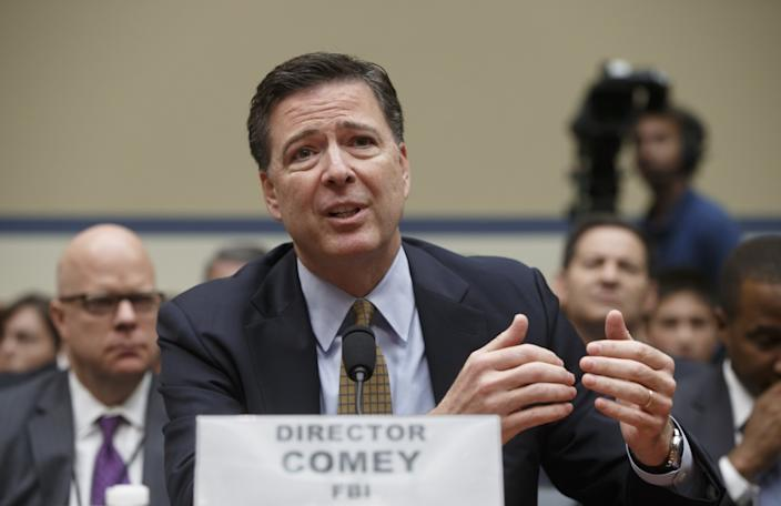 FBI Director James Comey answers questions about the FBI's recommendation not to prosecute Hillary Clinton. (Photo: J. Scott Applewhite/AP)