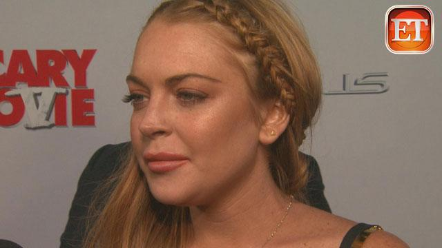 Lindsay Lohan Reacts to Letterman Interview