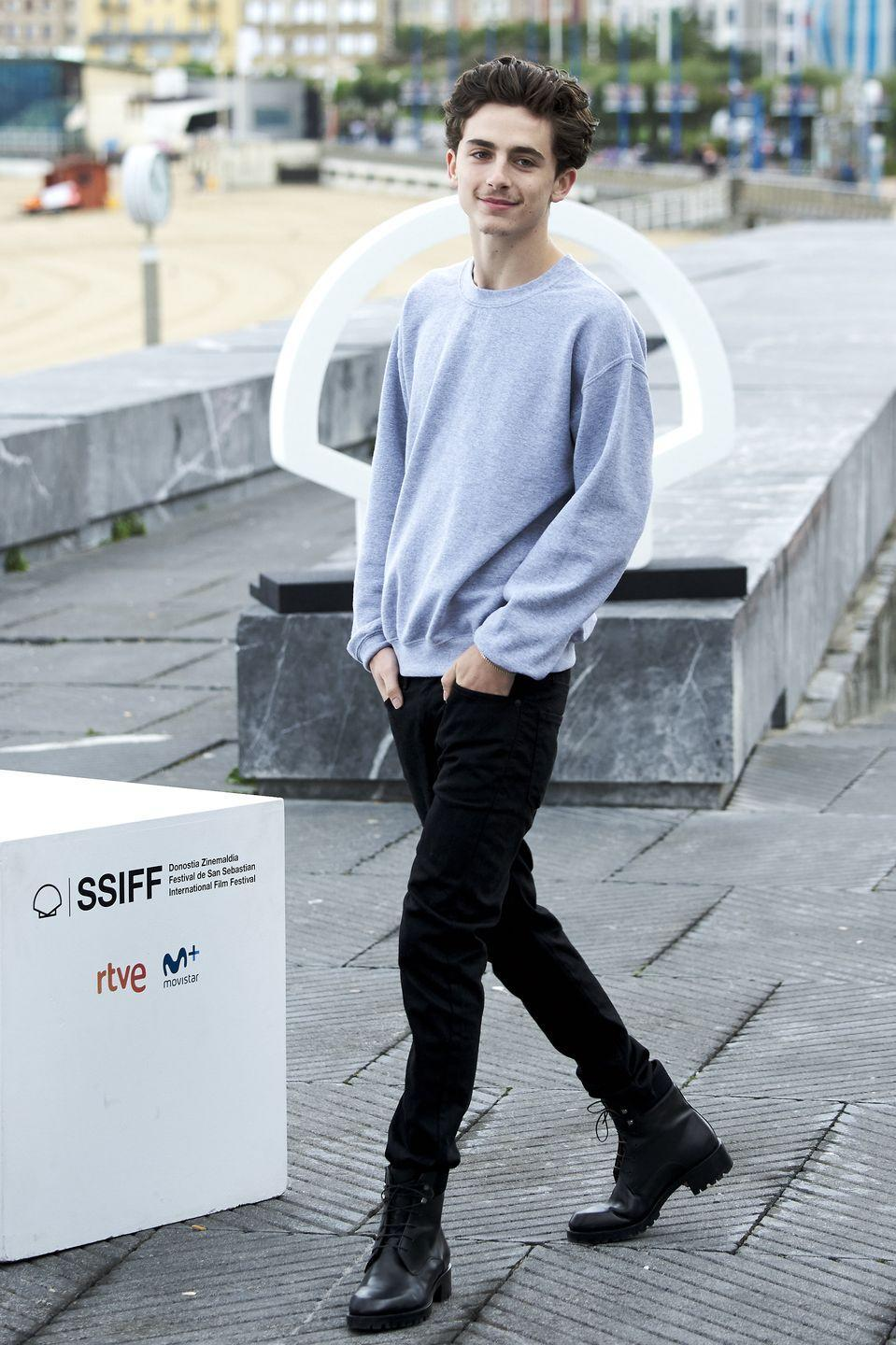 <p>Plain grey sweatshirts are fine. Black jeans are fine. Black boots are fine. But amp up the contrast in cuts, add some commando soles, and fine is lifted by the finer details.</p>