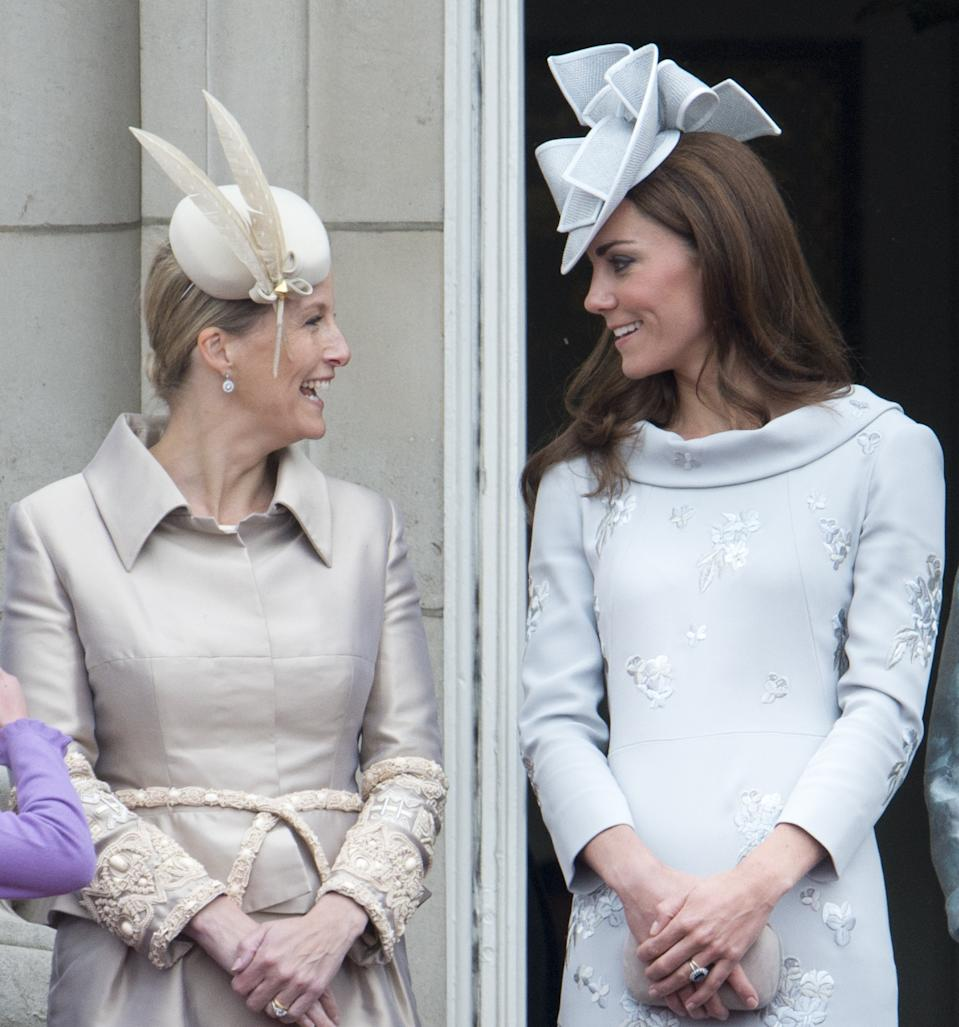 Catherine, Duchess Of Cambridge And Sophie Countess Of Wessex Attending The Trooping The Colour Ceremony In London