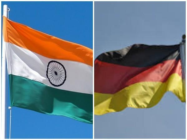 Indian and Germany flags