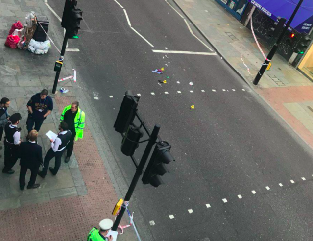 <em>A man has been arrested after a woman was left in a critical condition when she was knocked over by a cyclist (Matt Donald/PA)</em>