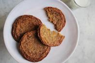 """<p>By adding molasses to your basic sugar cookie dough it bakes up to chewy, crisp-at-the-edges cookies that encompasses the flavors of fall all in one treat. <b><a href=""""https://www.yahoo.com/food/the-secret-ingredient-for-chewy-sugar-cookies-124821957.html"""" data-ylk=""""slk:Get the Molasses Sugar Cookies recipe;outcm:mb_qualified_link;_E:mb_qualified_link;ct:story;"""" class=""""link rapid-noclick-resp yahoo-link"""">Get the Molasses Sugar Cookies recipe</a>. </b><i>(Photo: Posie Harwood)</i></p>"""