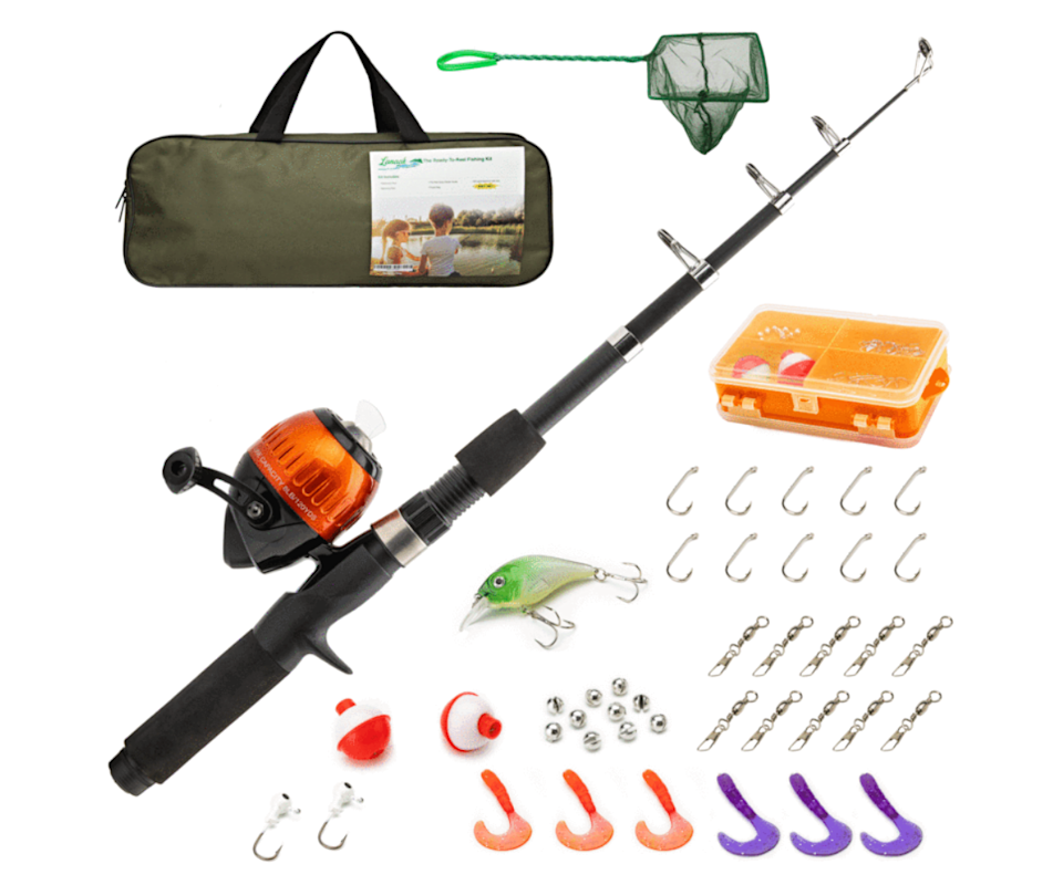 With 37 pieces, this fishing set and tackle kit comes fully equipped including a compact travel bag to take around summer. Source: Toy Universe