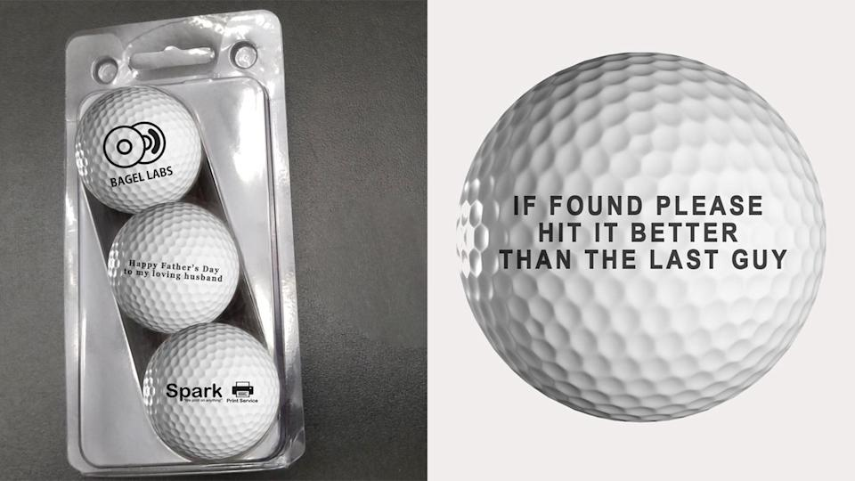 Best gifts for grandpa: Personalized golf balls