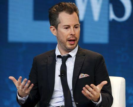 FILE PHOTO - Bill Maris, president and chief executive officer of Google Ventures, speaks about the future during the Wall Street Journal Digital Live (WSJDLive) conference at the Montage hotel in Laguna Beach, California October 20, 2015.      REUTERS/Mike Blake