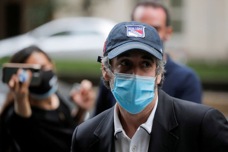 FILE PHOTO: Michael Cohen arrives at his Manhattan apartment in New York City