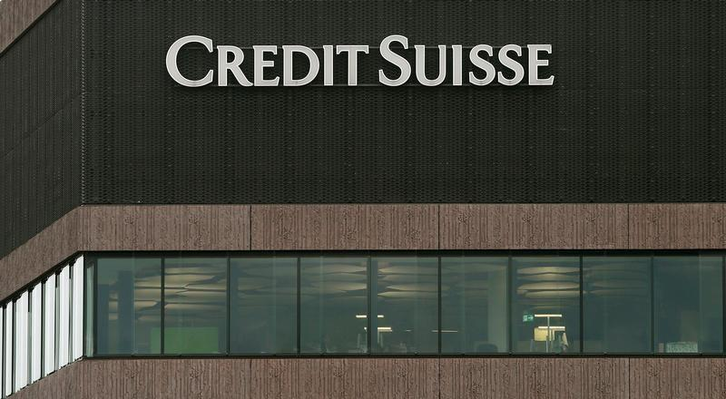 Logo of Swiss bank Credit Suisse is seen in Zurich