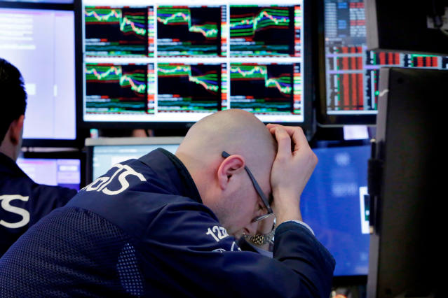 Stocks were selling off on Tuesday afternoon with the slide accelerating throughout the day. (AP Photo/Richard Drew)