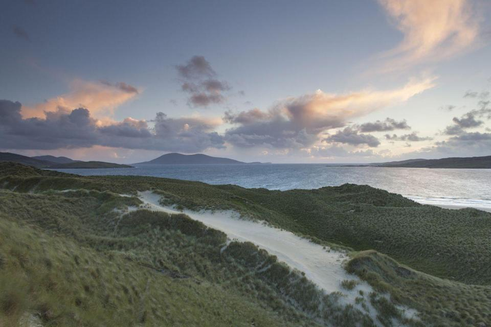 "<p>Situated on the west coast of Harris, in the Outer Hebrides, Luskentyre beach has the most incredible turquoise coast line set against rugged headland.</p><p><a class=""link rapid-noclick-resp"" href=""https://www.airbnb.co.uk/"" rel=""nofollow noopener"" target=""_blank"" data-ylk=""slk:FIND AN AIRBNB"">FIND AN AIRBNB</a></p>"