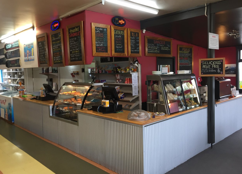 Photo of the Springfield cafe in New Zealand where customers described being yelled and and witnessing aggressive behaviour from the owners.